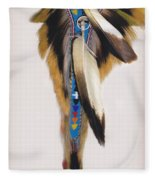Pow Wow Regalia - White Fleece Blanket