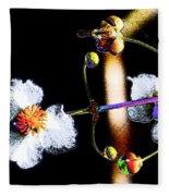 Powder Flower Fleece Blanket