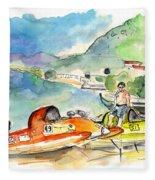 Power Boats World Championship In Barca De Alva 04 Fleece Blanket