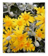 Power Of Yellow Fleece Blanket