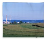 Power Plant Energy Fleece Blanket