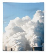 Power Station Plumes. Fleece Blanket