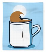 Powered By Coffee Fleece Blanket
