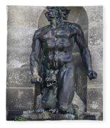 Powerscourt Fountain Sculpture Fleece Blanket