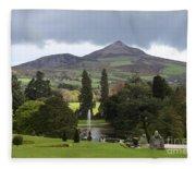 Lake And Garden Fleece Blanket