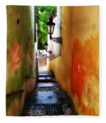 Prague - Street Fleece Blanket