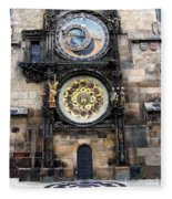 Prague Astronomical Clock Fleece Blanket