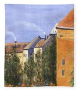 Prague Castle Fleece Blanket