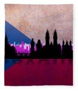 Prague City Fleece Blanket