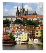 Prague Skyline Fleece Blanket