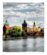 Prague Panorame Fleece Blanket