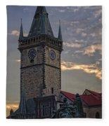 Prague Old Town Hall Fleece Blanket