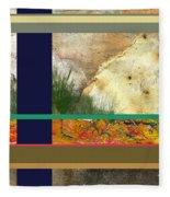 Prairie Grasses Amid The Rocks Fleece Blanket