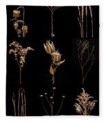 Prairie Plant Still Life Fleece Blanket