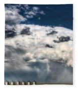 Prairie Storm Clouds Fleece Blanket