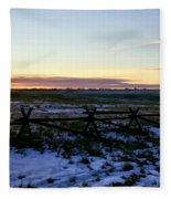 Prairie Sunrise Fleece Blanket