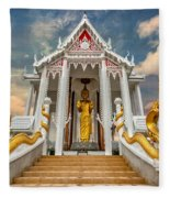 Pranburi Temple Fleece Blanket