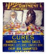 Pratts Healing Ointment Fleece Blanket