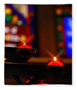 Prayer Candles Trinity Cathedral Pittsburgh Fleece Blanket