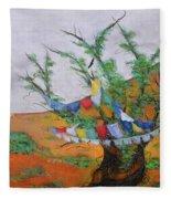 Prayer Flags Fleece Blanket