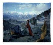 Prayer Flags Leh Ladakh Fleece Blanket