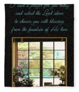 Prayer For You Card Fleece Blanket