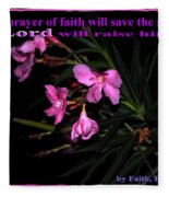 Prayer Of Faith Fleece Blanket