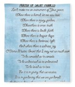 Prayer Of Saint Francis Fleece Blanket