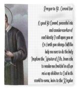 Prayer To St. Gerard For Motherhood Fleece Blanket