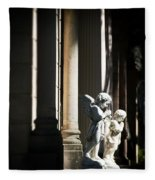 Praying Angle - Sucre Cemetery Dramatic Fleece Blanket