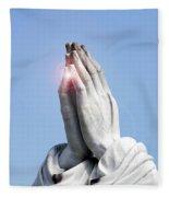 Praying Hands Lens Flare Fleece Blanket