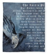 Praying Hands Lords Prayer Fleece Blanket
