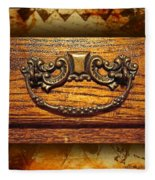 Pre-civil War Bookcase-drawer Pull Fleece Blanket