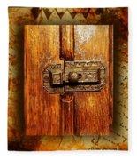 Pre-civil War Bookcase-glass Doors Latch Fleece Blanket