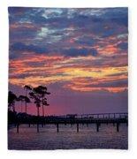 Pre-dawn Colors On Santa Rosa Sound Fleece Blanket