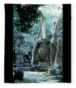 Preah Khan Temple 01 Fleece Blanket