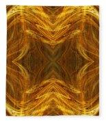 Precious Metal 3 Ocean Waves Dark Gold Fleece Blanket