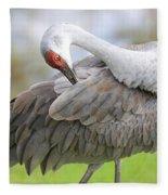 Preener Sandhill Crane Fleece Blanket