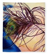 Preening For Attention Sold Fleece Blanket