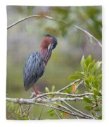 Preening Greenie Fleece Blanket