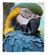 Preening Macaw Fleece Blanket
