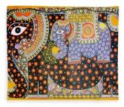 Pregnant Elephant Fleece Blanket