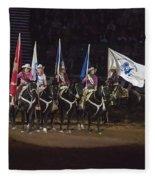 Presenting The Colors On Horseback Fleece Blanket