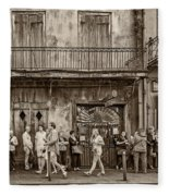 Preservation Hall Sepia Fleece Blanket