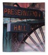 Preservation Hall Sign Fleece Blanket