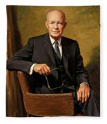 President Dwight D. Eisenhower By J. Anthony Wills Fleece Blanket