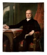President John Quincy Adams  Fleece Blanket
