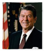 President Ronald Reagan Fleece Blanket