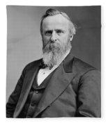 President Rutherford Hayes Fleece Blanket