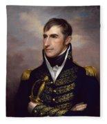 President William Henry Harrison Fleece Blanket